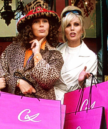 Jennifer Saunders (Cancer Sun, Venus in Gemini) and Joanna Lumley (Taurus Sun, Venus in Gemini)