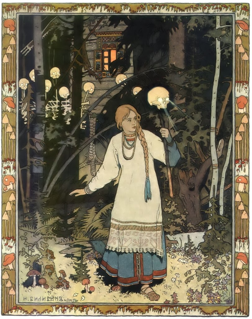Vasilisa the beautiful escapes from Baba Yaga's house. Click here to find out how she beat the forces of darkness.