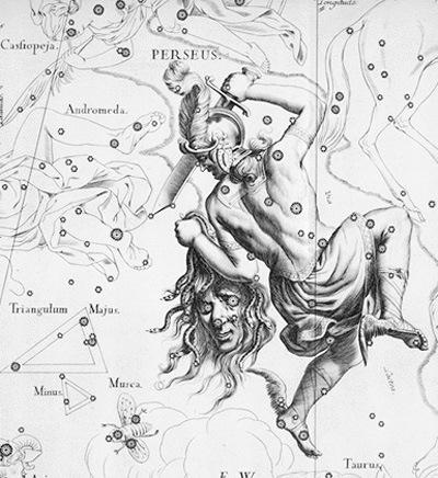Albrecht Durer's print of the constellation Perseus