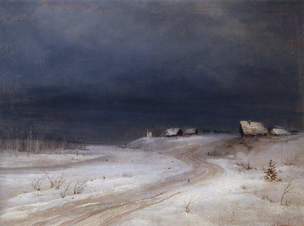 Winter Night, Alexei Savrasov