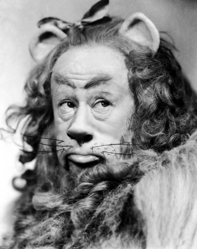 Burt Lahr in a still from the Wizard of Oz
