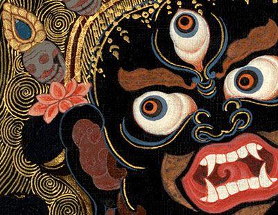 Mahakala - the Buddhist protector demon who wields thunderbolts