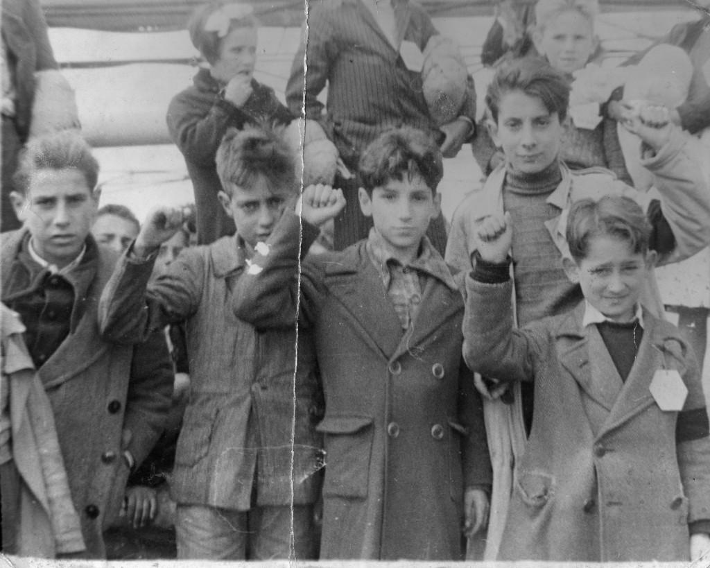Bambini rifugiati della guerra civile spagnola, Argeles Plage, Francia