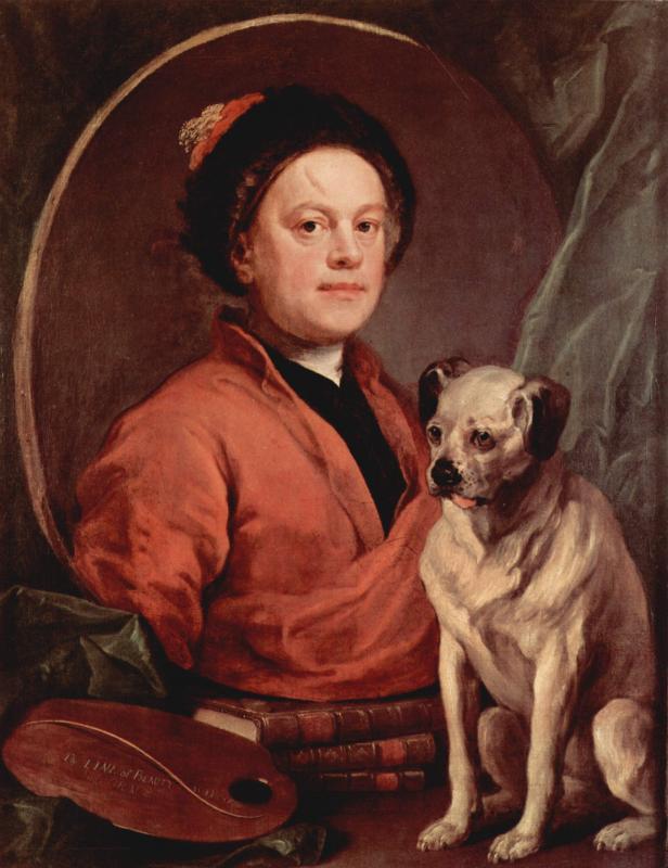 Self Portrait with dog, William Hogarth, Scorpio