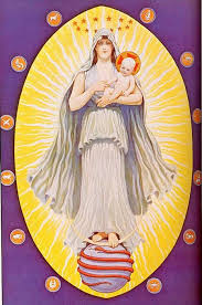 An illustration of the Celestial Virgin, shown as the figure of Virgo, from The Secret Teachings of All Ages: An Encyclopedic Outline of Masonic, Hermetic, Qabbalistic and Rosicrucian Symbolical Philosophy by Manly P. Hall.